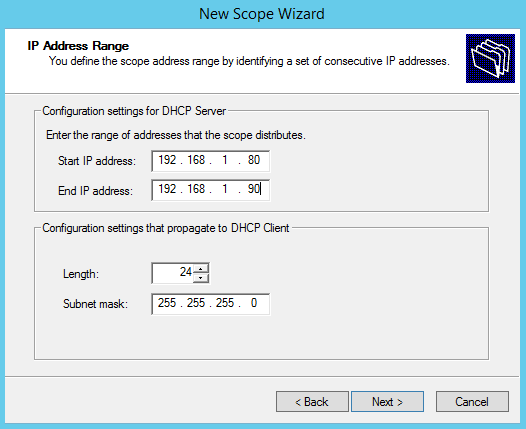 How to configure DHCP Server Scope in Windows Server 2012 R2