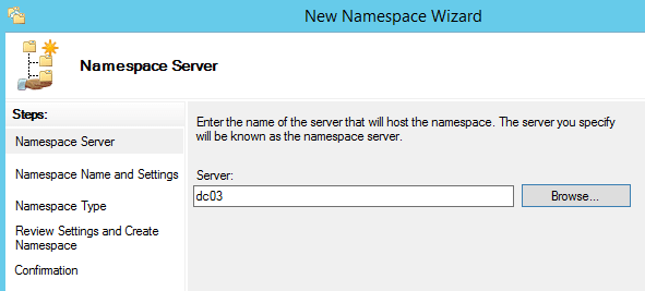 How To Create DFS NameSpace