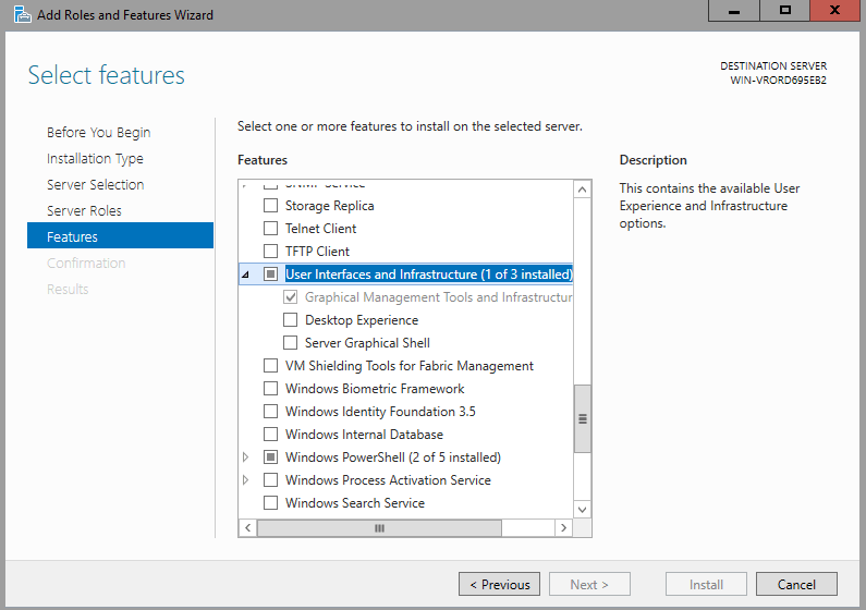 How to install GUI mode in Windows Server 2016