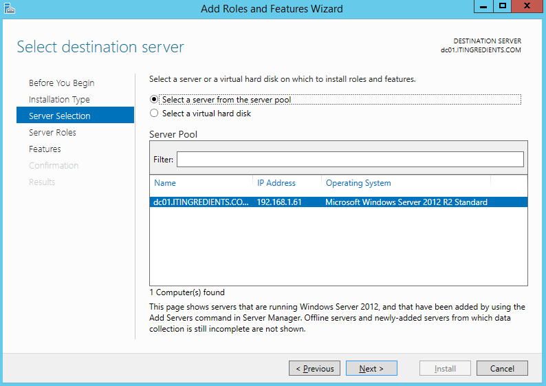 Install Windows Deployment Services 2012