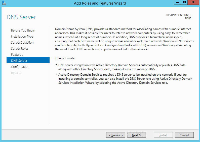How to install dns in windows server r