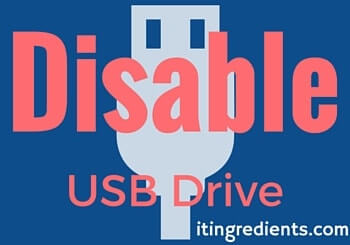 Disable USB Drive-removable disk- USB ports