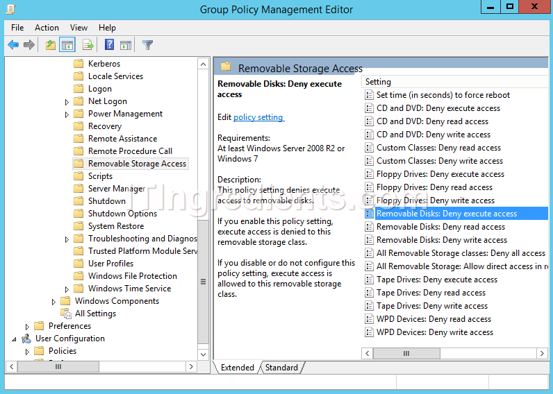How to Block USB Drives and Removable Media using Group Policy