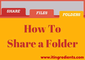 How to Share a Folder from Command