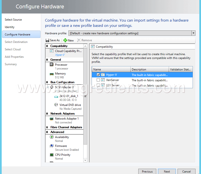 Create VM in Hyper-V using SCVMM (8)