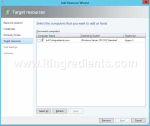 How to Add Hyper-V Server in SCVMM 2012 R2 (7)