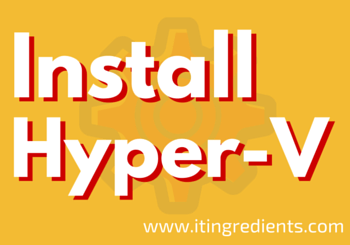 How to Install Hyper-V in Windows Server 2012 R2