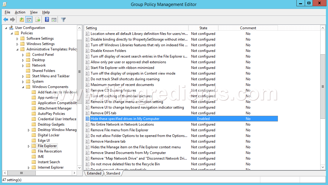 How to Hide Drives using Group Policy in Windows Server 2012 R2 (10)