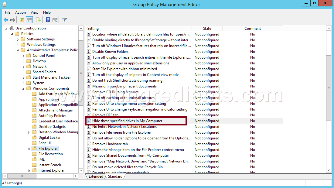 How to Hide Drives using Group Policy in Windows Server 2012 R2 (7)