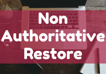 How to Perform Non-Authoritative Restore on Windows Server 2012 R2