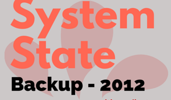 How to take System State Backup in Windows Server 2012 R2