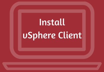 How to install vsphere client 6.0 on Windows Server 2012 R2