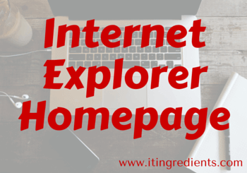 How to set Internet Explorer homepage GPO
