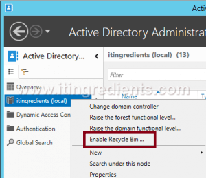 How to Enable Active Directory Recycle Bin in Windows Server 2012 R2 (3)