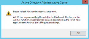 How to Enable Active Directory Recycle Bin in Windows Server 2012 R2 (5)