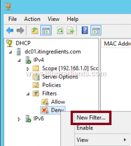 How to Enable DHCP MAC address filtering (1)