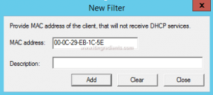 How to Enable DHCP MAC address filtering (2)