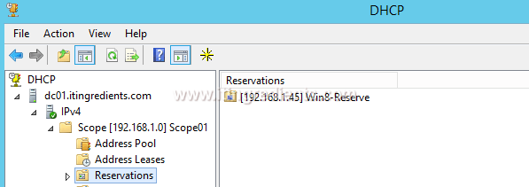 uk availability brand new fresh styles How to Configure DHCP Server Reservation in Windows Server ...