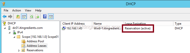 How to Configure DHCP Server Reservation in Windows Server