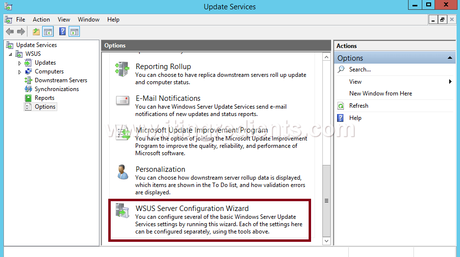 How to Configure WSUS Server on Windows Server 2012 R2