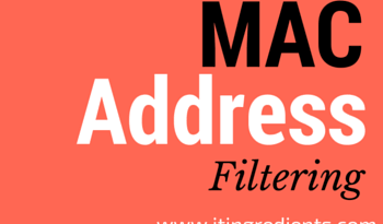 configure MAC Address Filtering