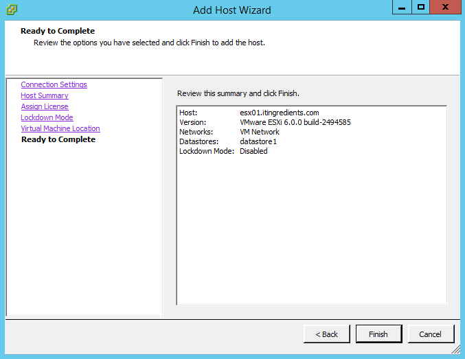How to add VMWare ESXi Host to vCenter 6