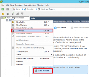 Add VMWare ESXi Host to vCenter Server (1)