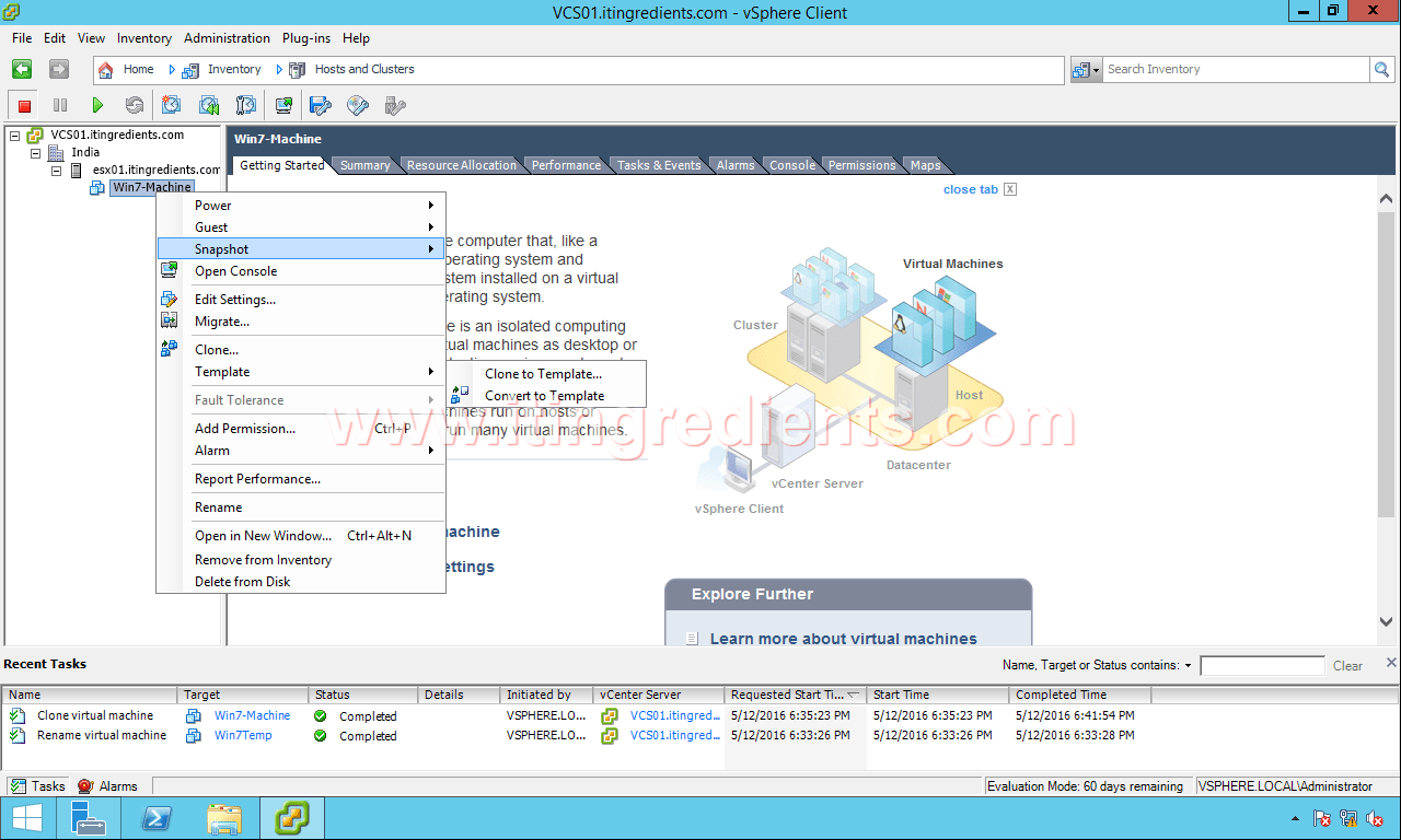 How to Create VM Template & Convert VM Template using vCenter Server