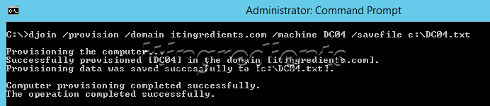 configure offline domain join using djoin (1)