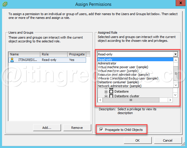 Assign Custom Role in VMWare using vSphere Web Client and