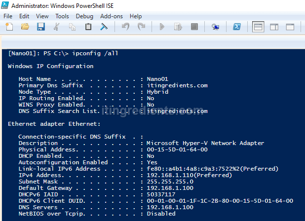 How to Remotely Manage Nano Server 2016 using PowerShell & GUI