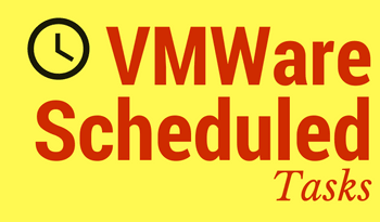 VMWare Scheduled Tasks to Power Off Virtual Machine