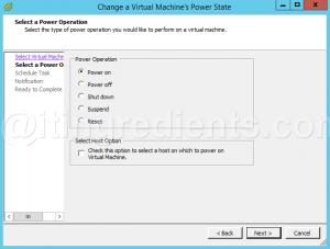 VMware Scheduled Task to Power-Off and Power-On Virtual Machine