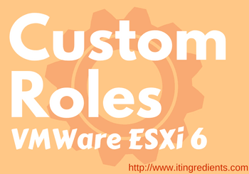 create role in Vmware ESXi 6