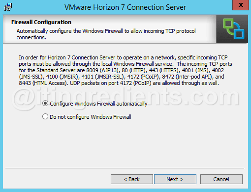 How to install VMWare Horizon View 7 Connection Server- Step 1