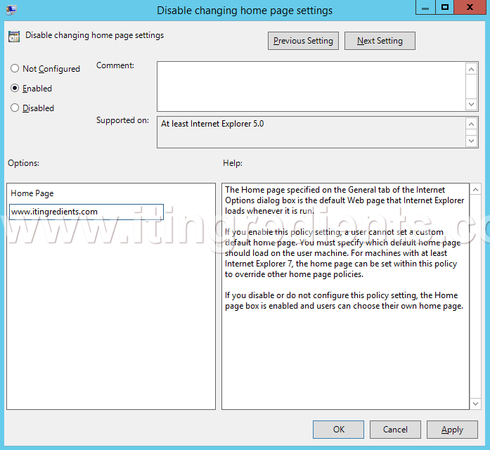 How To Set Internet Explorer Homepage Using Gpo Group Policy